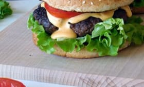 Burger sauce cheddar