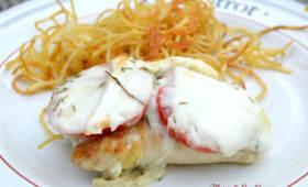 Escalope de poulet tomate mozzarella