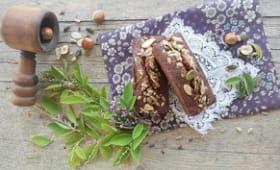 Financiers au chocolat et aux fruits secs