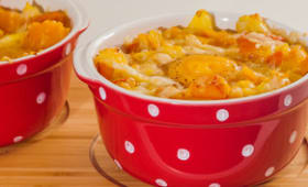 Cocotte de pommes de terre au potimarron et aux oeufs