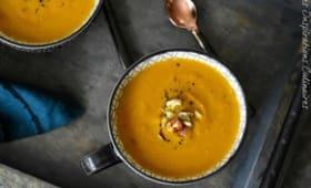 Soupe de potiron au sirop d'erable