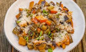 Poêlée d'aubergine au potimarron
