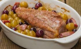 Filet mignon de porc aux raisins