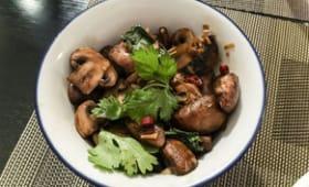 Champignons sautés à la sauce de soja