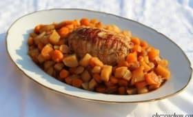 Rôti de dinde aux pommes de terre et carottes au Cookeo