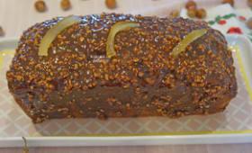 Cake chocolat praliné et yuzu - Atelier de Brigitte (Gironde 33230 COUTRAS, LIBOURNE, SAINT-DENIS de PILE, SAINT-SEURIN/L'ISLE) cuisine, recettes, partages,