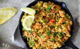 Le riz espagnol au poulet
