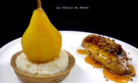 Filet de pintade et sa tartelette spéculoos, céleri et poire safranée