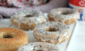 Donuts au thé Earl Grey façon London Fog, cuits au four