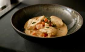 Joues de lotte en curry.