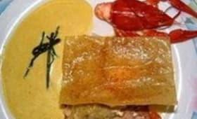 Croustillant de haddock à la fondue de poireaux