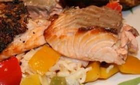 Saumon grillé à la Jamie Oliver
