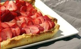 Tarte aux fraises légèrement vanillée
