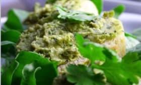 Caviar de courgettes de Nice, sésame, citron vert et coriandre