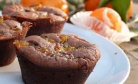 Fondant au chocolat aux épices de Noël et aux clémentines confites