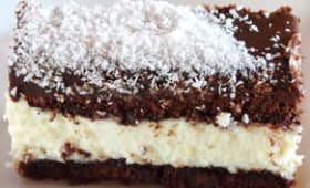 Gâteau fondant chocolat mousse coco