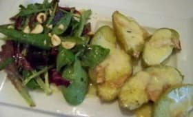 Pommes grenailles au fromage des bauges et Pommes grenailles à la mousse de faisselle
