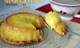 Minis gâteaux renversés aux pommes bio caramélisées