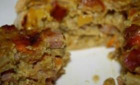 Tartelette Curry de navets, jambon et mimolette
