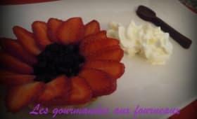 Tartelette aux fruits rouges sur lit de lemon curd