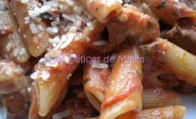 Pâtes aux tomates, aubergines et mozzarella de Jamie Oliver