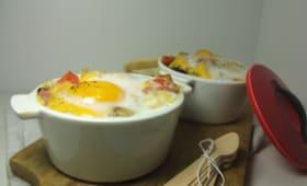 Cocotte butternut chèvre et jambon cru
