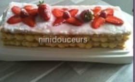 Mille feuille aux fraises