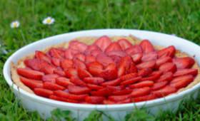 Tarte aux fraises et poudre d'amande