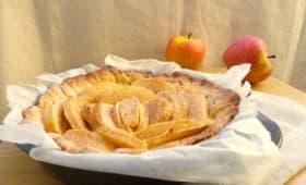 Tarte aux pommes, ricotta et cannelle