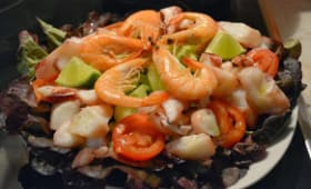 Salade fraiche de la mer