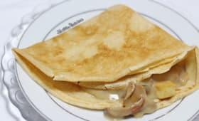 Crêpes à la bières fourrées à la béchamel aux bolets et tofu