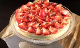 Tarte aux fraises crème d'amandes et pâtissière