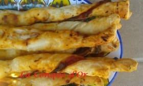 Torsades feuilletées saveur pizza