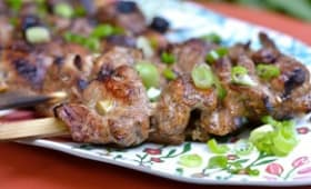 Brochettes de filet de porc