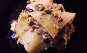 Les lasagnes aux champignons et poireaux