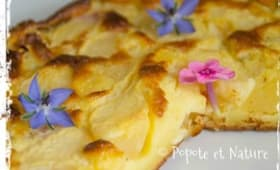 Clafoutis aux nectarines blanches