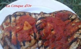 Aubergines à la pizzaïola
