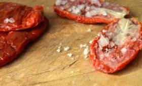 Tomates séchées sous sel