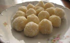 Rochers chocolat blanc et noix de coco