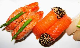 Saumon graines sésame noir et blanc