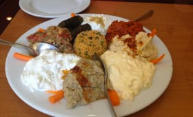 Assiette de cuisine turque