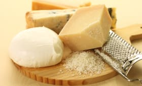 Différents fromages italiens