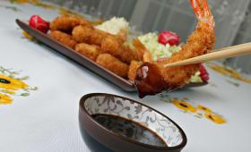 Beignets de crevettes préparés avec le panko