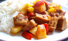 Curry de tomates et seitan