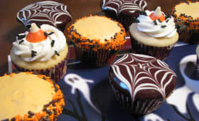 Assortiment de cupcakes d'halloween