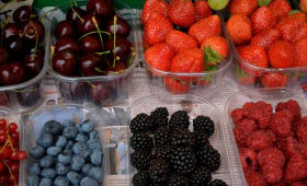 Assortiment de fruits rouges