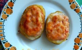 Pommes de terre farcies au merlan
