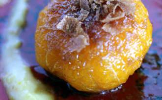Clémentines rôties, crème de citron combava