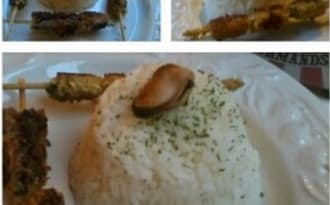 Brochettes de moules panées au curry