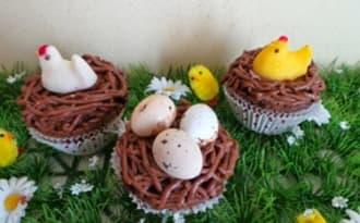 Cupcakes nids de Pâques
